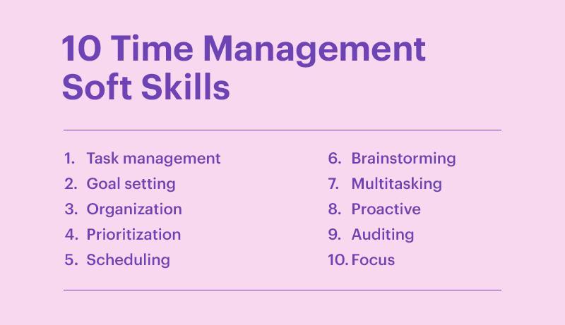 10 Time Management Soft Skills