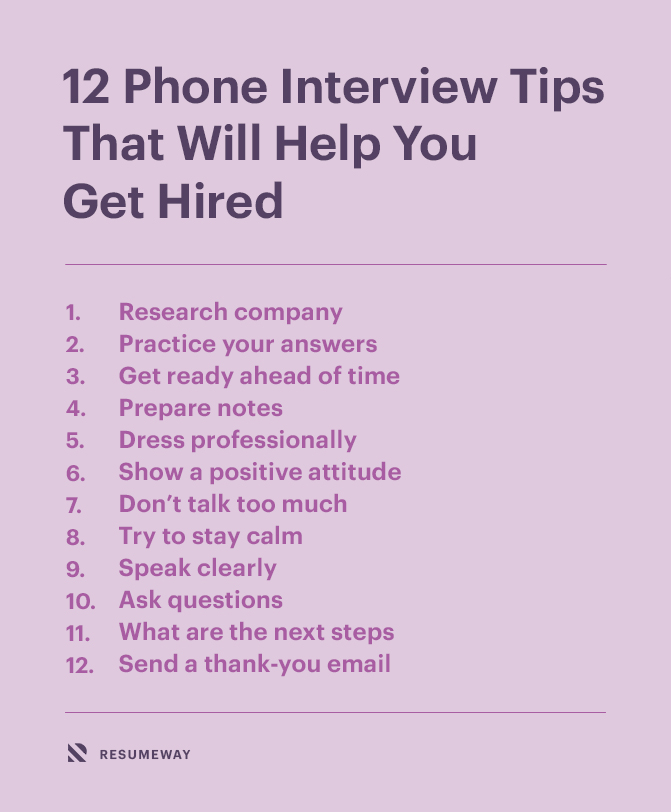 12 Phone Interview Tips That Will Help You Get Hired Banner