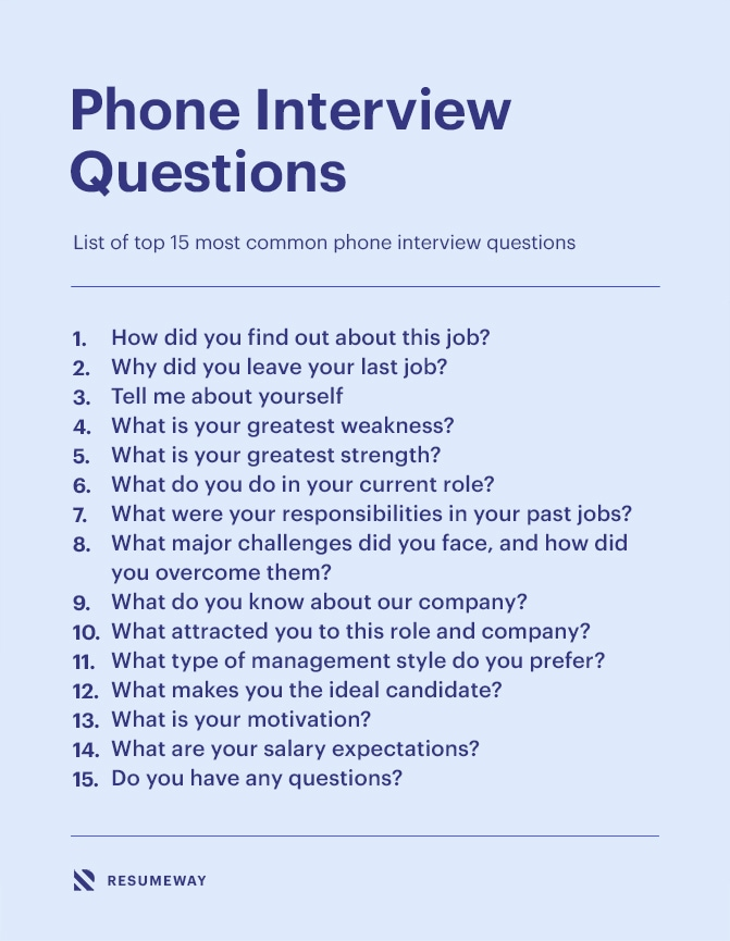15 Best Phone Interview Questions