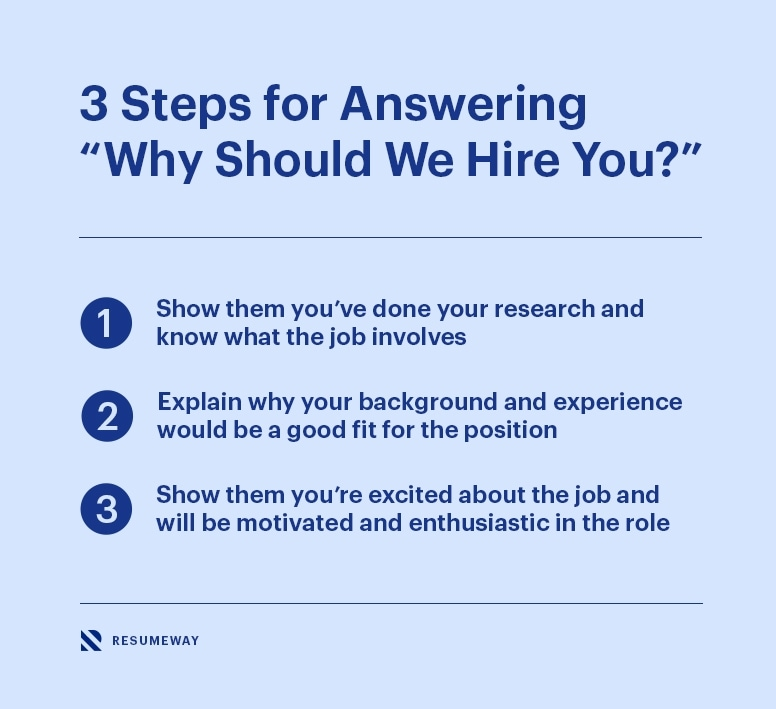 """3 Steps For Answering """"why Should We Hire You?"""""""