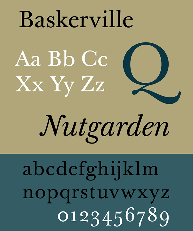 Resume Fonts 2020 - Baskerville Font