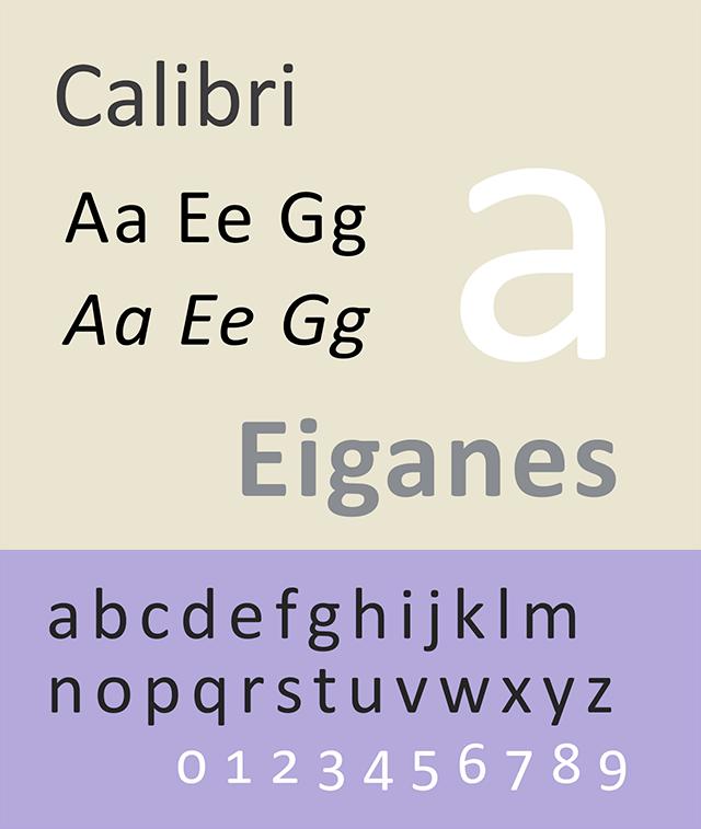 Resume Fonts 2020 - Calibri Font