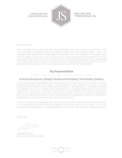 Classic Cover Letter 110590