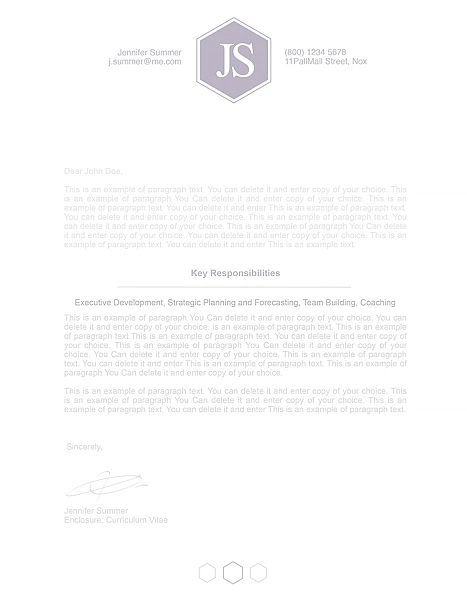 Classic Cover Letter 110610