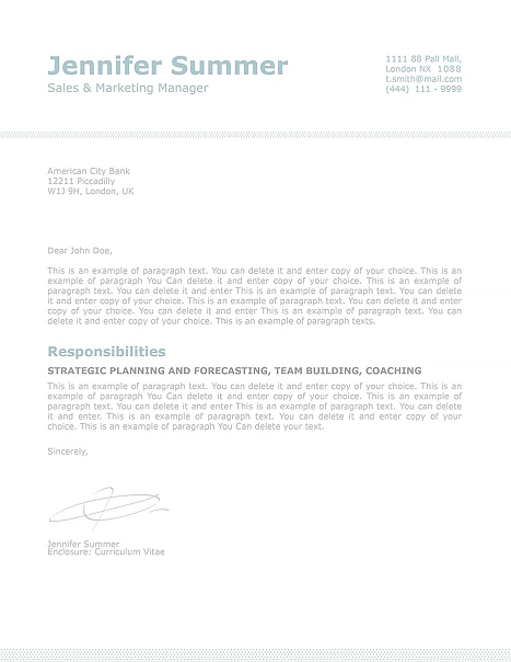 Classic Cover Letter 110720