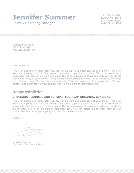 Classic Cover Letter 110730