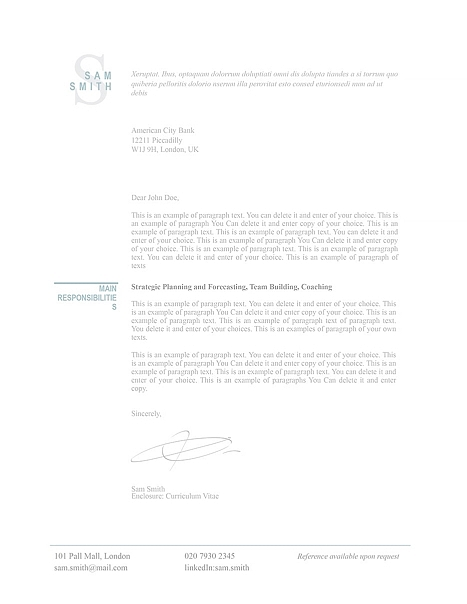 Classic Cover Letter 110780