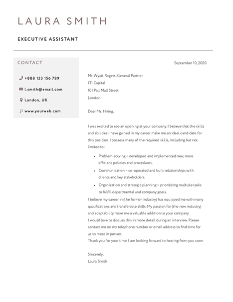 Classic Cover Letter 120820