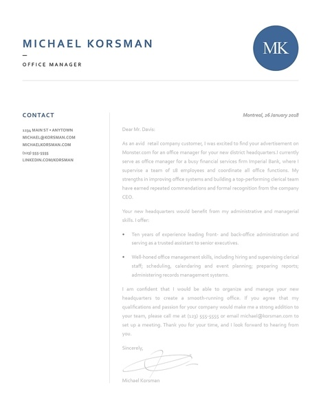 Classic Cover Letter Template 120190