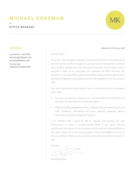 Classic Cover Letter Template 120200