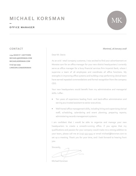 Classic Cover Letter Template 120210