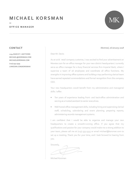 Classic Cover Letter Template 120220