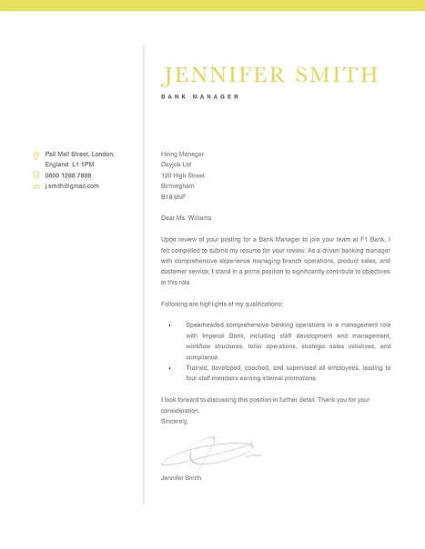 Classic Cover Letter Template 120300