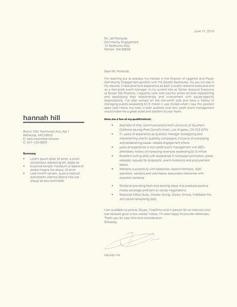 Classic Cover Letter Template 120360