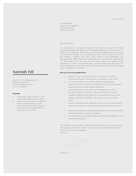Classic Cover Letter Template 120370