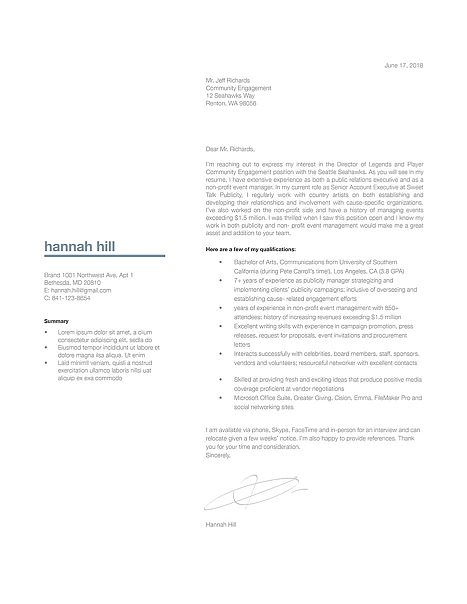 Classic Cover Letter Template 120380
