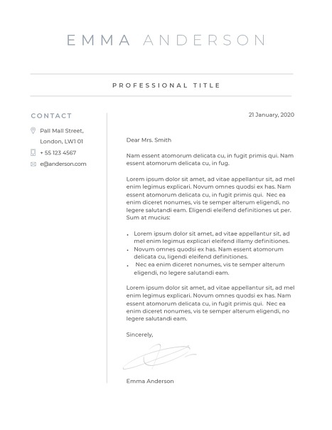 Classic Cover Letter Template 120630