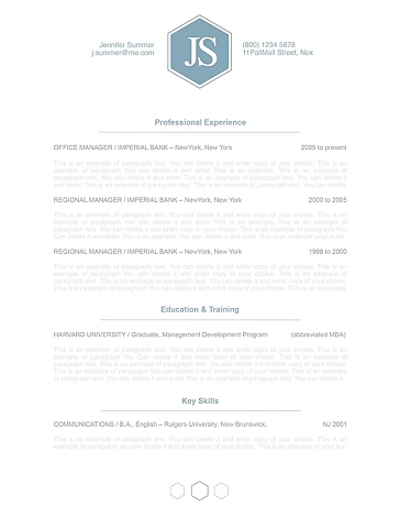 Classic Resume Template 110600
