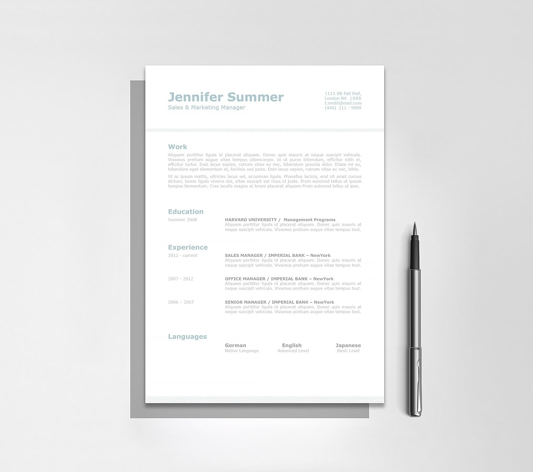 Classic Resume Template 110720 4