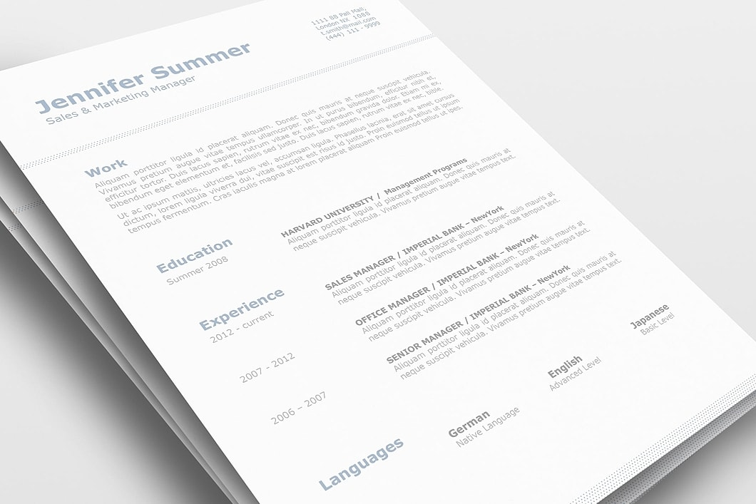 Classic Resume Template 110730 0