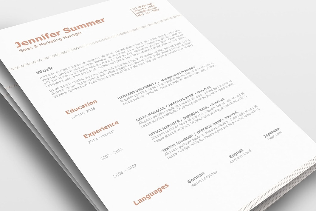Classic Resume Template 110740 0