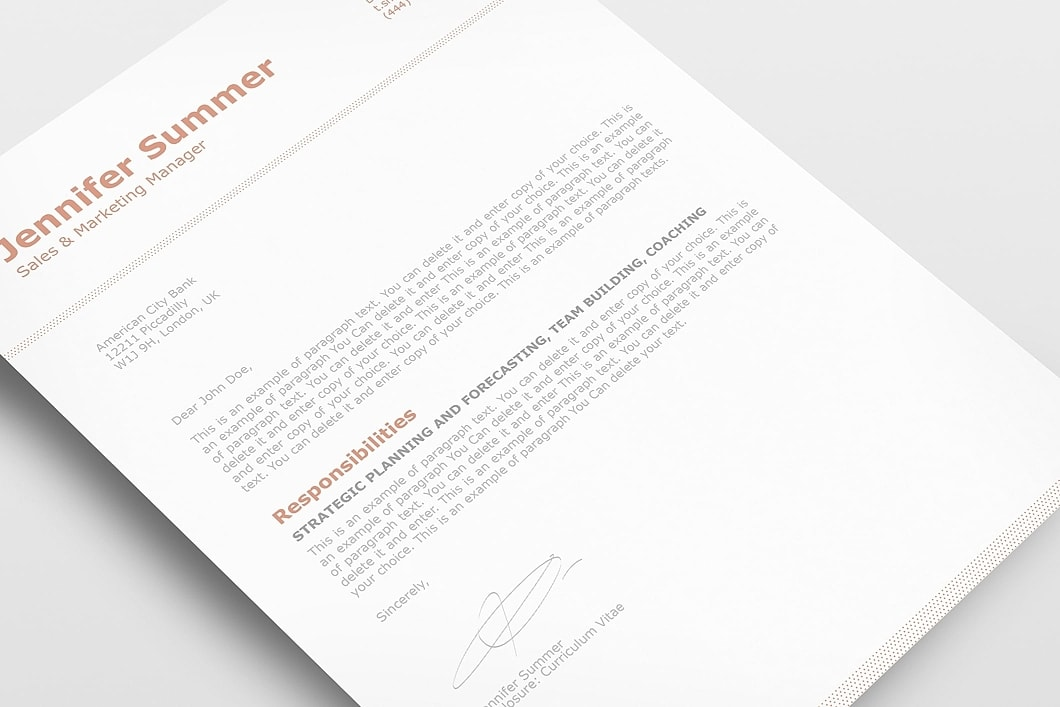 Classic Resume Template 110740 2
