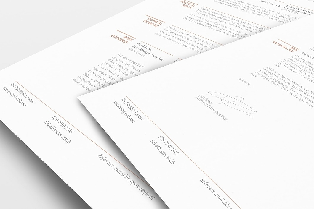 Classic Resume Template 110750 1