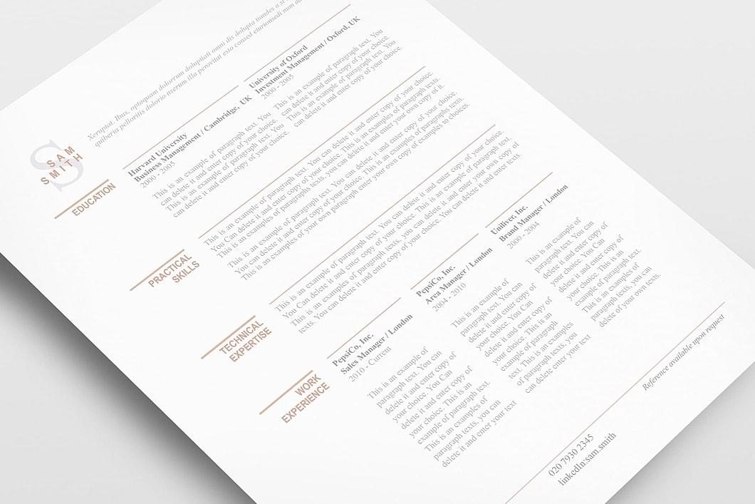 Classic Resume Template 110750 3