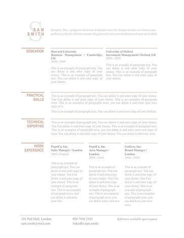 Classic Resume Template 110750