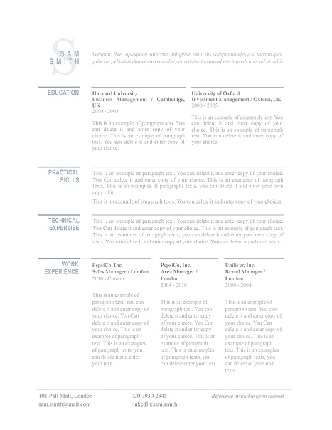 classic resume template 110760