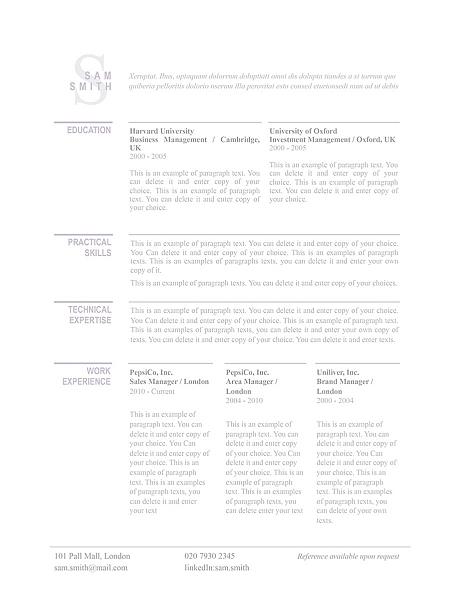 Classic Resume Template 110770