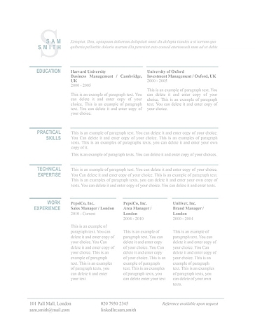 Classic Resume Template 110780