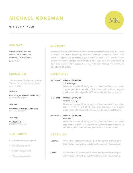 Classic Resume Template 120200