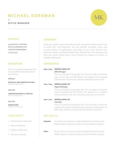 Classic Resume Template 120200