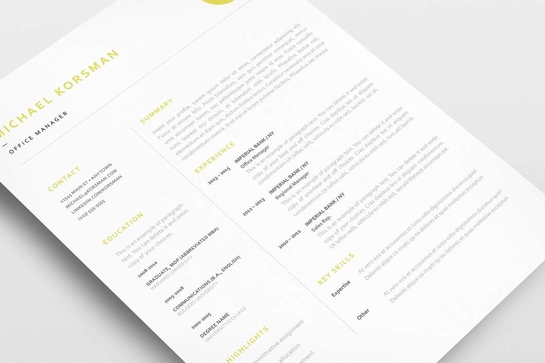 Classic Resume Template 120200 5