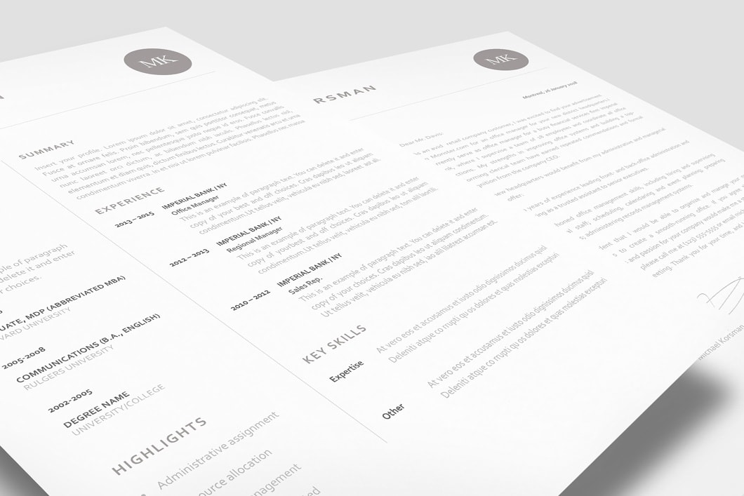 Classic Resume Template 120210 2