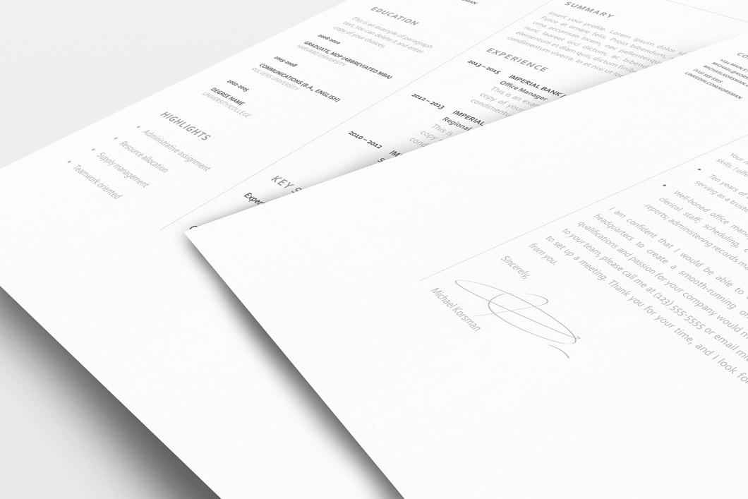 Classic Resume Template 120210 3