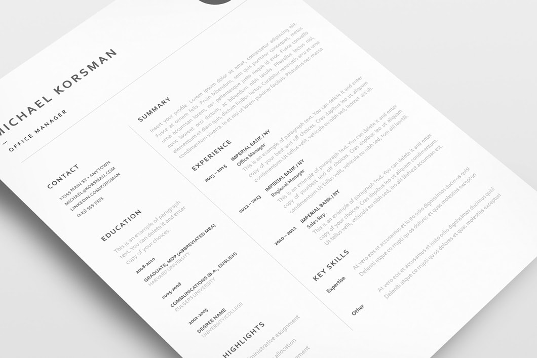 Classic Resume Template 120220 5