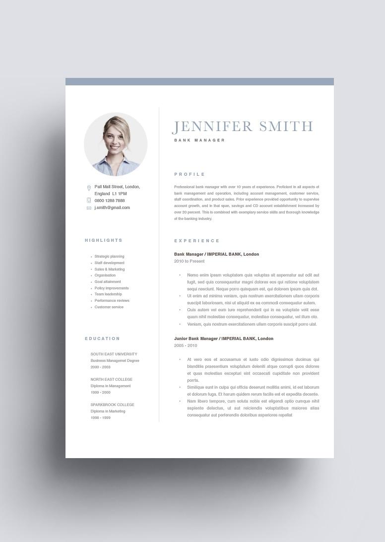 Classic Resume Template 120270