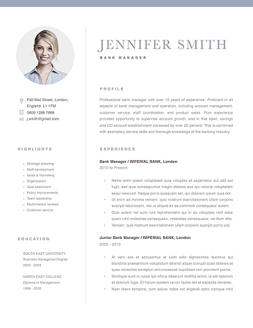 Classic Resume Template 120270