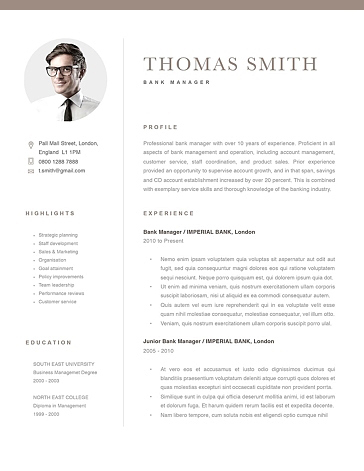 Classic Resume Template 120280