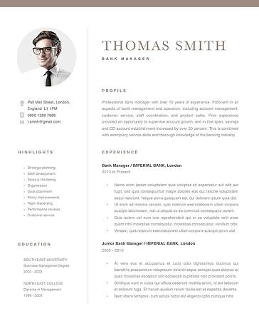 Classic Resume Template 120280