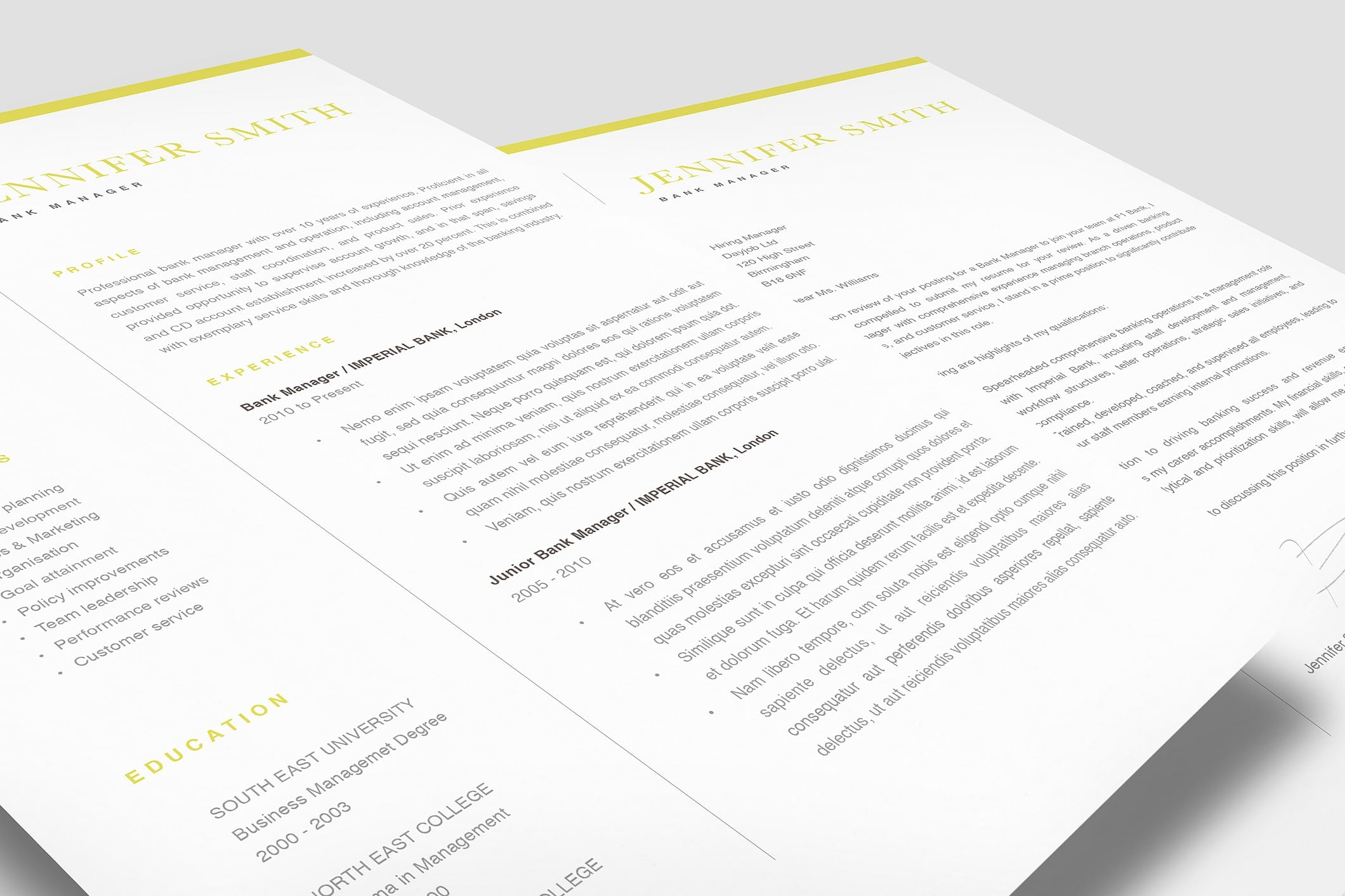 Classic Resume Template 120300 2
