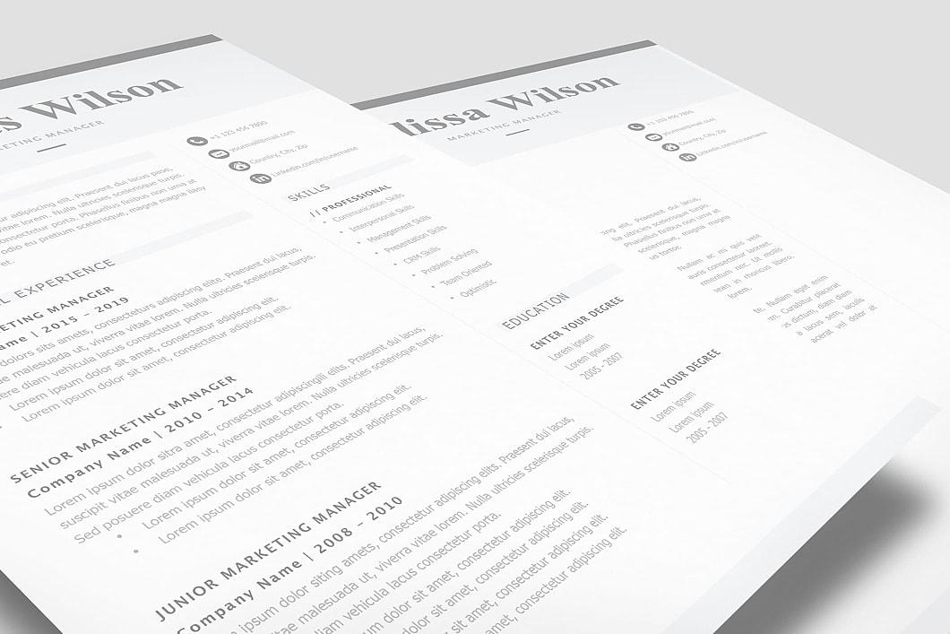 Classic Resume Template 120310 3