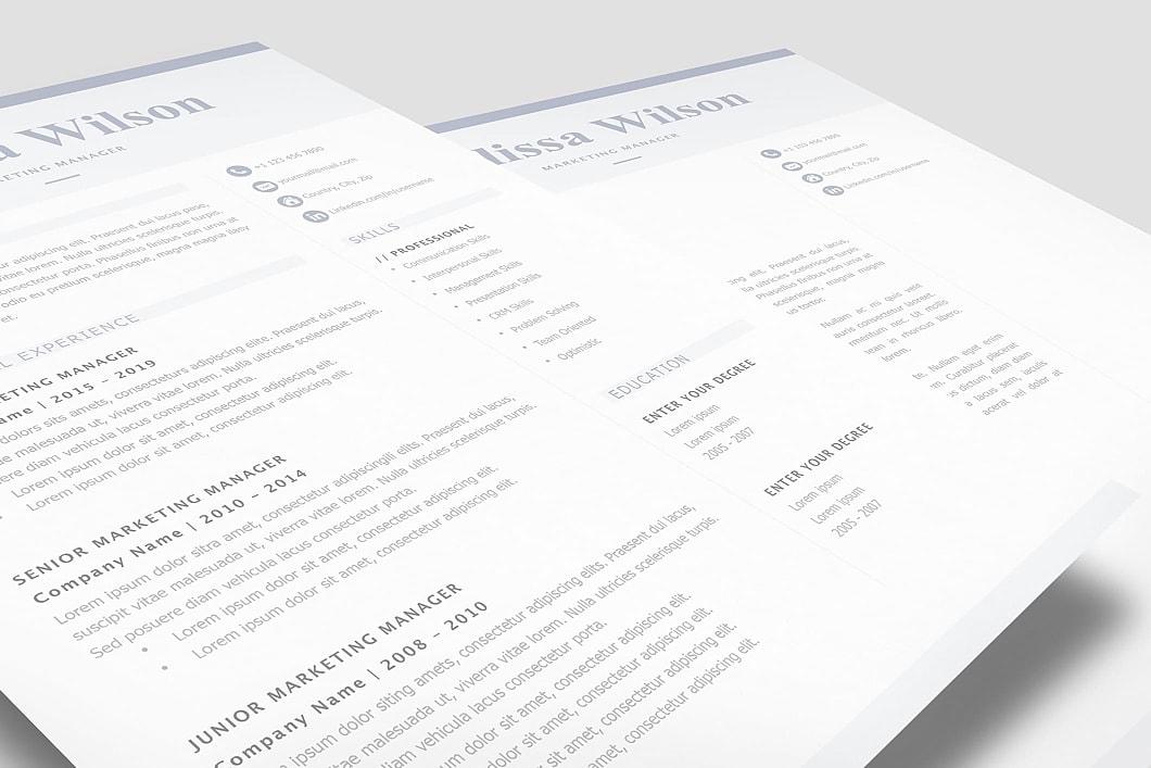 Classic Resume Template 120320 3