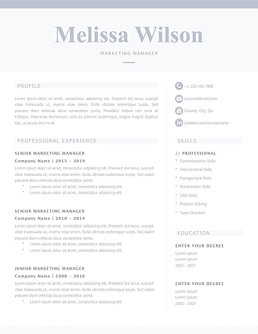Classic Resume Template 120320