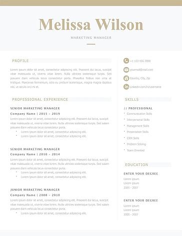 Classic Resume Template 120330