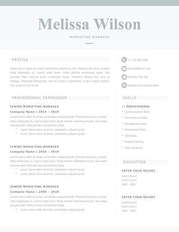 Classic Resume Template 120340