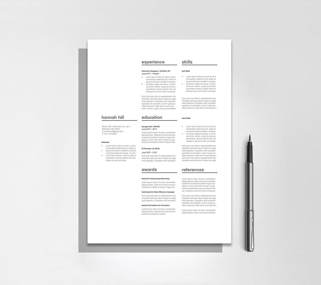 Classic Resume Template 120350 4