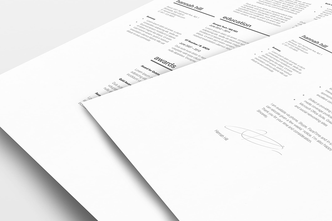 Classic Resume Template 120350 5